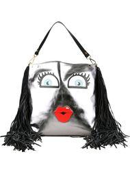 сумка на плечо с аппликацией глаз Giancarlo Petriglia