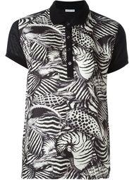 футболка-поло с животным принтом Moncler