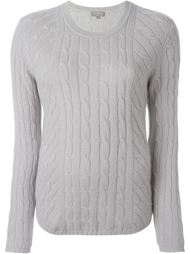 diagonal cable sweater N.Peal