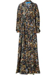 waist band sunflower print dress Jonathan Cohen