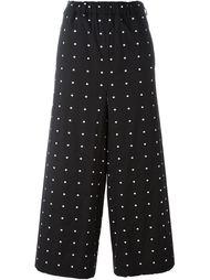 polka dot cropped palazzo trousers Lucio Vanotti