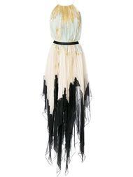 плиссированное длинное платье Maria Lucia Hohan