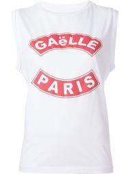 топ с принтом-логотипом Gaelle Bonheur