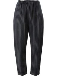 pinstriped tapered trousers Lucio Vanotti