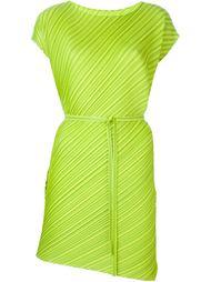плиссированное платье с поясом  Pleats Please By Issey Miyake