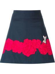 юбка А-силуэта с цветочной аппликацией Vivetta
