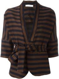 полосатый пиджак с поясом Lucio Vanotti