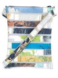 magazine stripe crossbody bag Luisa Cevese Riedizioni