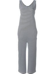 striped contrast seam jumpsuit Lucio Vanotti