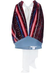 striped paisley halterneck tank top Rodarte