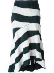 полосатая асимметричная юбка  Cédric Charlier
