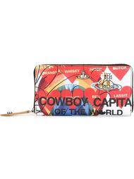 кошелек с принтом сердец Vivienne Westwood