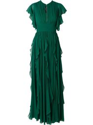 длинное платье с оборками Elie Saab