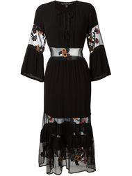 платье с прозрачными панелями и цветочной вышивкой For Love And Lemons