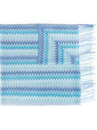 трикотажный шарф с волнистым узором Missoni