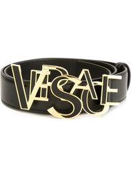 ремень с бляшкой с логотипом Versace