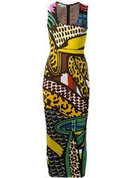 платье миди с комбинированным принтом Stella McCartney