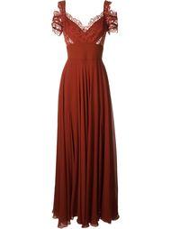 платье с кружевной отделкой Elie Saab
