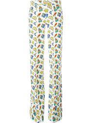 брюки с принтом дорожных принадлежностей Au Jour Le Jour