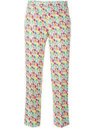 укороченные брюки с цветочным принтом Au Jour Le Jour