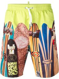 surf board print swim shorts Dsquared2 Beachwear