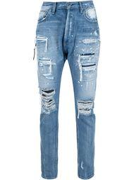 джинсы с потертой отделкой Mr. Completely