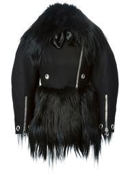 байкерская куртка с мехом козла Alexander McQueen