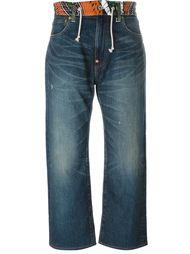джинсы с контрастным поясом  Junya Watanabe Comme Des Garçons