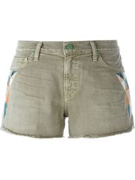 embroidered detail denim shorts Sandrine Rose