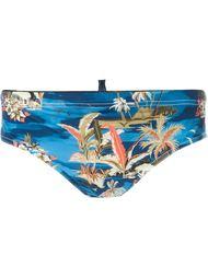 плавки с цветочным принтом Dsquared2 Beachwear