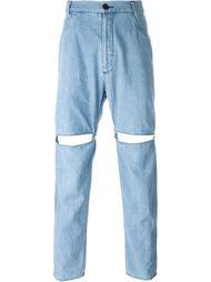 джинсовые брюки с разрезами 69