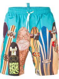 плавательные шорты с принтом досок для серфинга Dsquared2 Beachwear