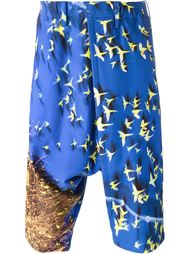 'Parrots' jersey trousers Issey Miyake Men