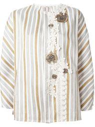 декорированный полосатый пиджак  Antonio Marras