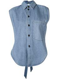джинсовая рубашка без рукавов 69