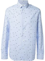 полосатая рубашка с принтом звезд Paolo Pecora