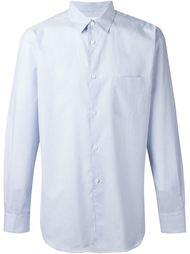 полосатая рубашка с принтом 'free' на спине Comme Des Garçons Shirt