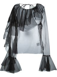 шифоновая блузка с рюшами Marques'almeida