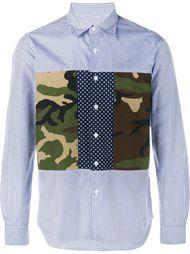 рубашка с камуфляжными панелями Sophnet.