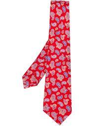 """галстук с принтом """"пейсли""""  Kiton"""