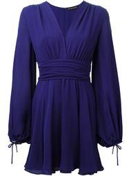 расклешенное мини-платье с длинными рукавами  Plein Sud