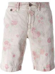 шорты-чинос с цветочным принтом Incotex