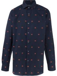 рубашка с вышитым узором обезьян Paul Smith London