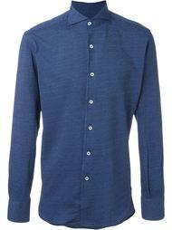 рубашка на пуговицах с мелким узором Canali