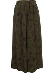 широкие брюки с растительным принтом En Route