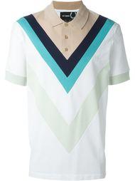 футболка-поло с V-образным принтом Raf Simons - Fred Perry