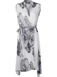 flower print wrap dress  Forme D'expression