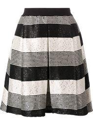 полосатая юбка с пайетками Pt01
