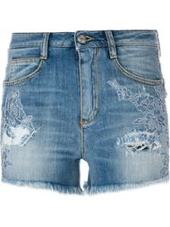 embroidered denim shorts Ermanno Scervino