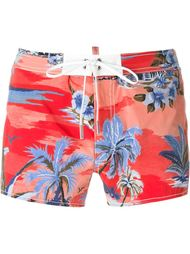 tropical print swim shorts Dsquared2 Beachwear